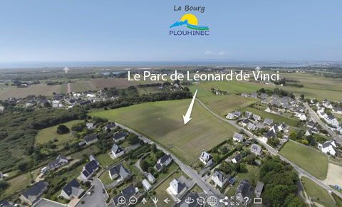 vue-aerienne-plouhinec-parc-leonard-de-vinci